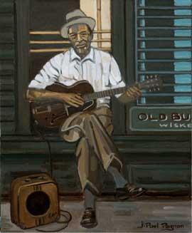 STEADY ROLLIN' MAN Huile sur toile. 61 x 50 cm. Collection particulière.