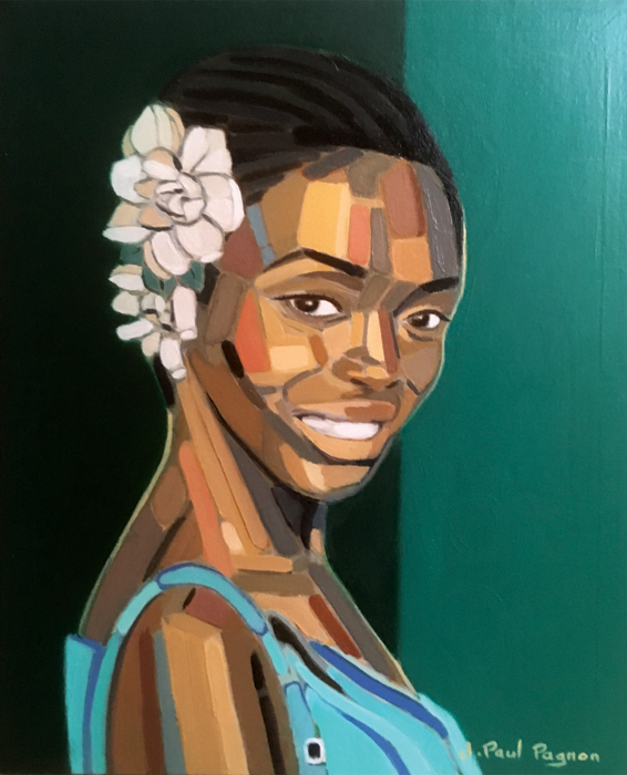 Africa blues peinture Jean-Paul Pagnon