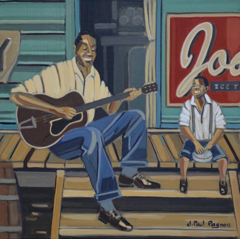 Au pays du Mississippi peinture Jean-Paul Pagnon