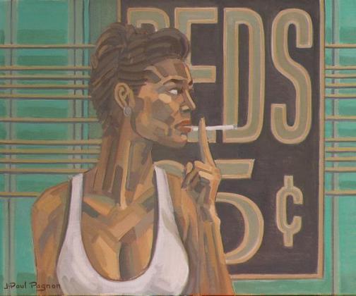 Portrait de femme. huile sur toile de j-paul pagnon