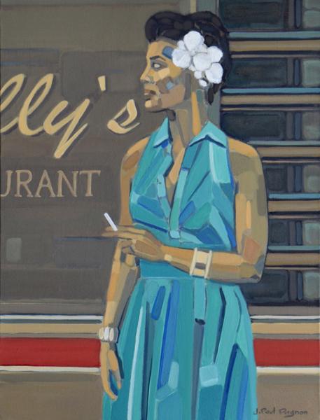 BASIN` STREET BLUES Peinture Jean-Paul Pagnon