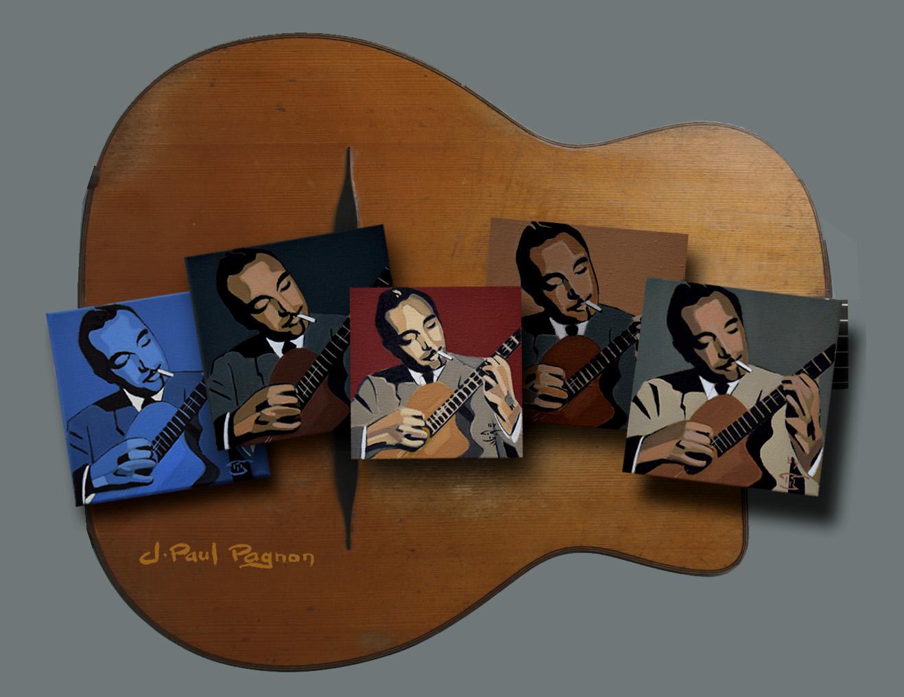 Portraits de Django Reinhardt par Jean-Paul Pagnon