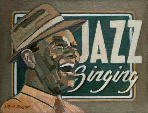JAZZ SINGING Peinture Jean-Paul Pagnon