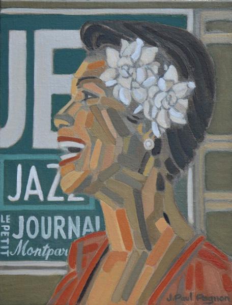 JAZZ AU PETIT JOURNAL peinture Jean-Paul Pagnon