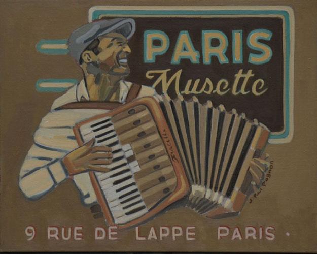 paris musette jean-paul pagnon peinture jazz