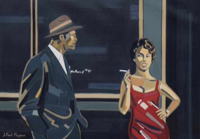 Sandra peinture Jean-Paul Pagnon