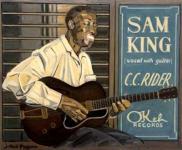 SAM KING Huile sur toile. 50 x 61 cm Collection particulière.